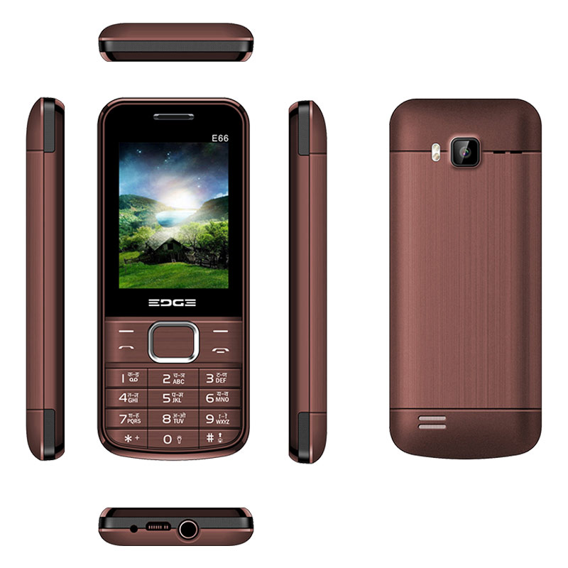 Buy Edge E66 Dual Sim Feature Phone Coffee online