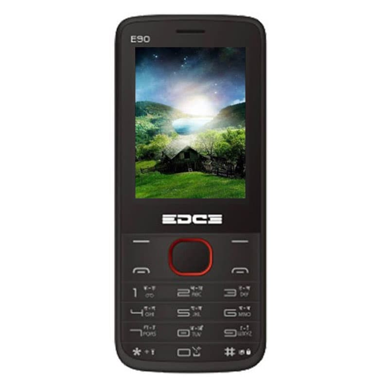 Buy Edge E90 Dual Sim Feature Phone With Free Portable Led Light Red online