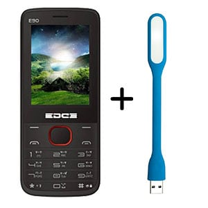 Buy Edge E90 Dual Sim Feature Phone With Free Portable Led Light Online