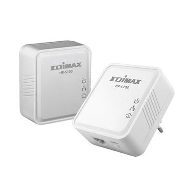 Edimax HP-5103K AV500 Nano PowerLine Adapter Kit White Price in India
