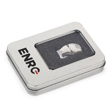 Enrg Iron Man Face 8 GB USB 2.0 Pendrive Silver Price in India