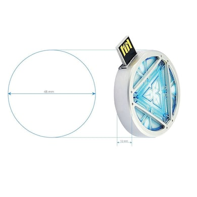 ENRG Pen Drive 8 GB Energy Arc Reactor Pendrive With Blinking Arc feature Silver Price in India