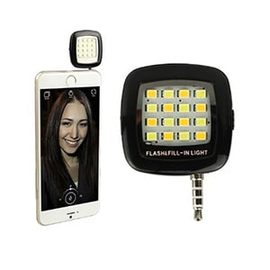 ENRG Selfie Flash Light With 3.5 mm Jack Black