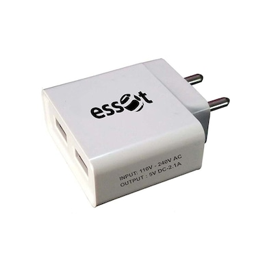 Essot 2.1Amp Force 1 Portable USB Adapter White Price in India
