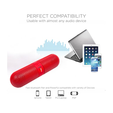 Essot Capsule Plus Portable Wireless Bluetooth Speakers Red Price in India