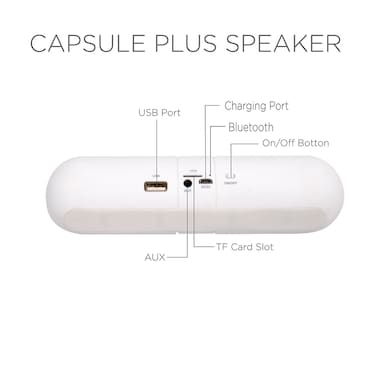 Essot Capsule Plus Portable Wireless Bluetooth Speakers White Price in India