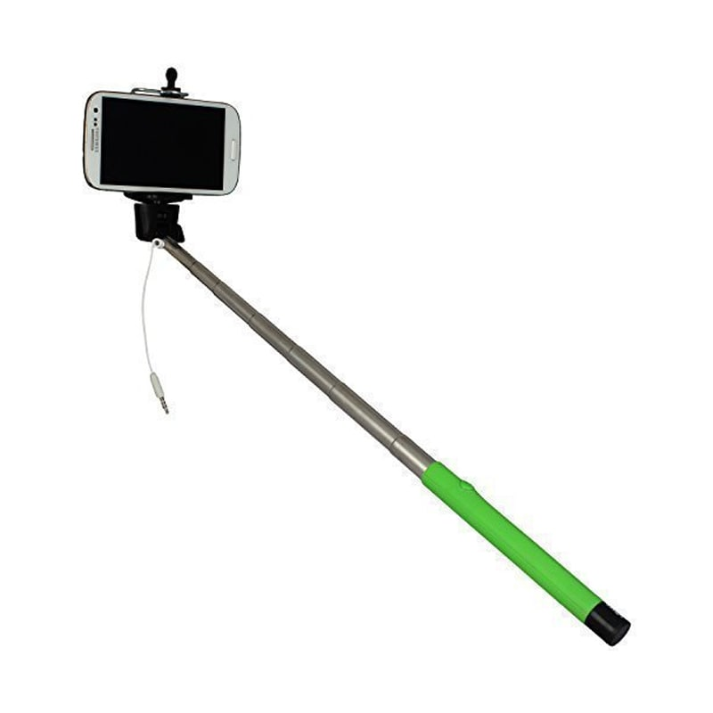 essot splash proof aux cable selfie stick for apple iphone smartphones cameras green price in. Black Bedroom Furniture Sets. Home Design Ideas