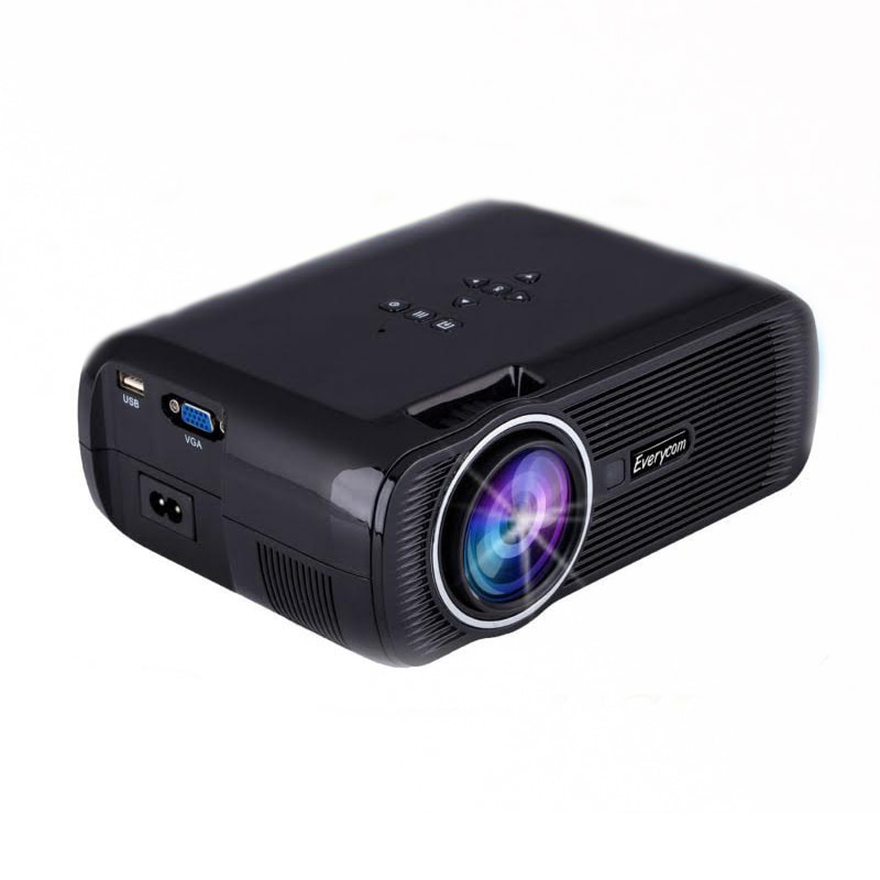 Everycom x7 led 1800 lumens portable projector black price for Highest lumen pocket projector