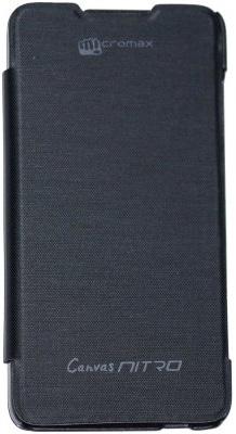 new concept a1a4a 07b2f Flashmob Premium Satin Finish Flip Cover For Micromax Canvas Nitro ...