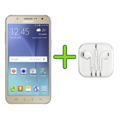 Refurbished Samsung Galaxy J7 2016 Edition +Free Earphone with Mic for All Android/ (Gold, 2GB RAM, 16GB) Price in India