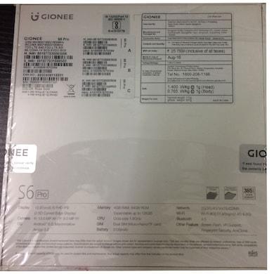 Gionee S6 Pro 4G VoLTE (4 GB RAM, 64 GB)