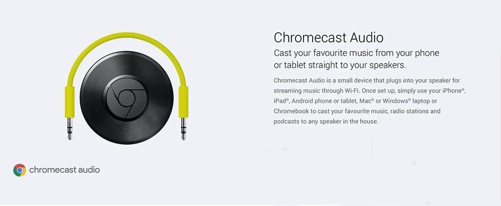 Google Chromecast Audio Streaming Device Photo 6
