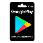 Buy Google Play Gift Card Rs 750 Online