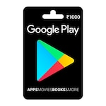 Buy Google Play Gift Card Rs 1000 Online