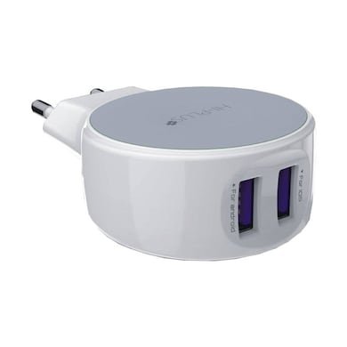 Hitech HI-PLUS H12 Dual Charger 2.1A White Price in India
