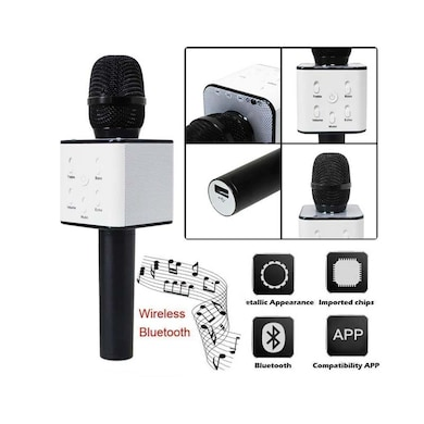Hk Villa Wireless Bluetooth Microphone Recording Microphone with Bluetooth Speaker for Mobile/Tablet Multicolor Price in India