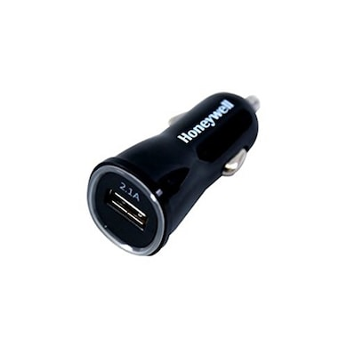 Honeywell Micro CLA Car Charger without Cable (2.1 Amp 1 x USB) Black Price in India