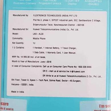 Honor 7C FullView Display (Black, 4GB RAM, 64GB) Price in India