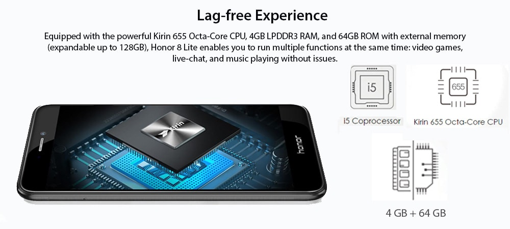 Honor 8 Lite 4G VoLTE (4GB RAM, 64GB) Photo 9