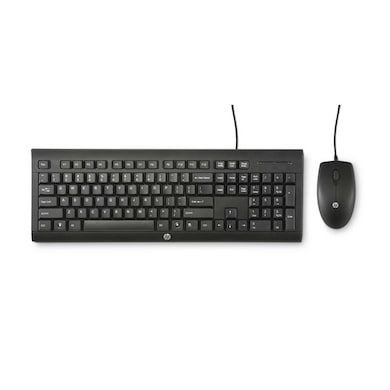 HP C2500 Wired Keyboard+Mouse Combo Black Price in India