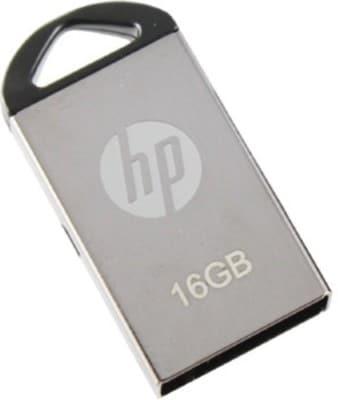 HP V 221 W 16 GB USB 2.0 Pendrive Metallic Silver Price in India