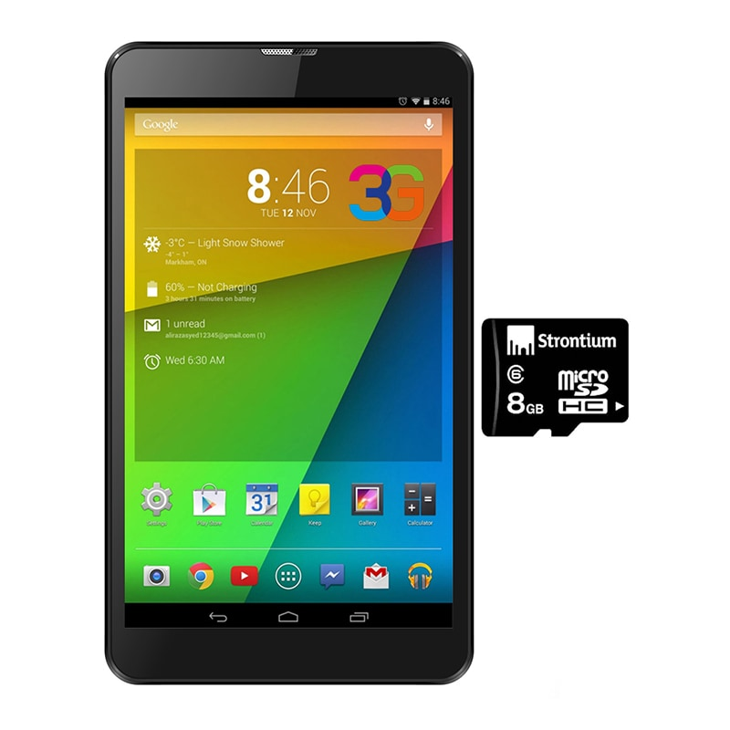 Buy I Kall IK1 3G + Wifi Voice Calling Tablet With With 8 GB Memory Card Black, 4GB online