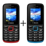 Buy I Kall K11 Combo,1.8 Inch TFT LCD Display,Bluetooth,Camera Red and Blue Online