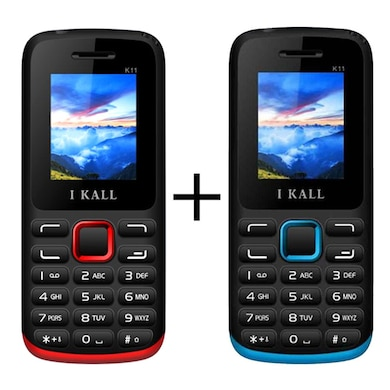 I Kall K11 Combo,1.8 Inch TFT LCD Display,Bluetooth,Camera (Red and Blue) Price in India