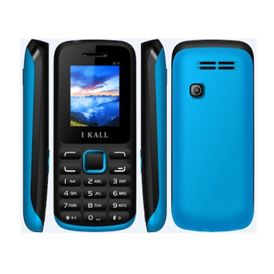 I Kall K11 with 1.8 Inch Display, Bluetooth (Black and Blue, 256MB&Below RAM) Price in India