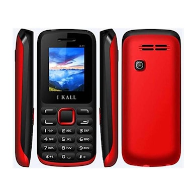 I Kall K11 with 1.8 Inch Display, Bluetooth (Black and Red, 256MB&Below RAM) Price in India