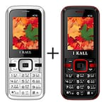 Buy I Kall K14 Combo with Rear Camera,Bluetooth,8 GB Expandable Memory Black and Red Online