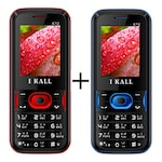 Buy I Kall K14 Combo with Rear Camera,Bluetooth,8 GB Expandable Memory Red and Blue Online