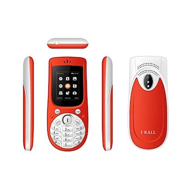 I Kall K18, 1.77 Inch Display,Camera,Bluetooth,Dual SIM (Red) Price in India