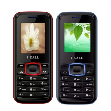 I Kall K19 Combo Of Two Mobile (Red and Black) Price in India