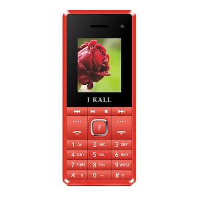 I Kall K2180 Selfie Camera,FM Radio,1000 mAh Battery (Red) Price in India