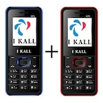 Buy I Kall K25 Combo,1000 mAh Battery,1.8 Inch TFT Display Black Blue and Black Red Online
