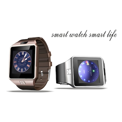 I Kall K28 Smart Wrist Watch with Camera and Sim Support Gold Price in India