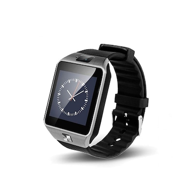 I Kall K28 Smart Wrist Watch with Camera and Sim Support Silver Price in India