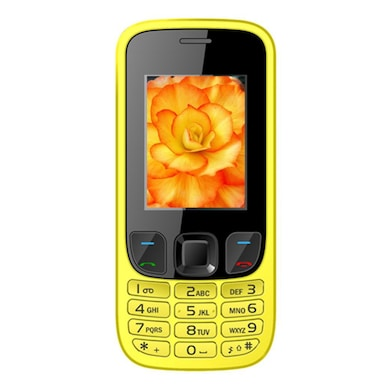I Kall K29 1.8 Inch Display,VGA Camera,FM Radio (Yellow) Price in India