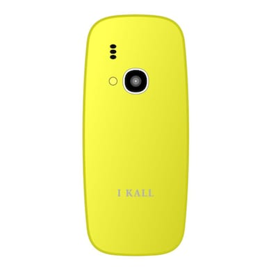 I Kall K31,FM radio,Camera,1000 mAh Battery (Yellow) Price in India