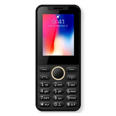 I KALL K33 New, 2.4 Inch with Camera, FM, 1800 mAh Battery (Black) Price in India