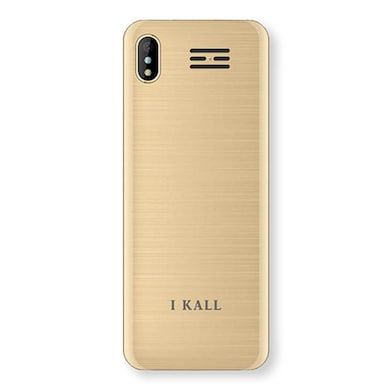 I KALL K33 New, 2.4 Inch with Camera, FM, 1800 mAh Battery (Golden) Price in India