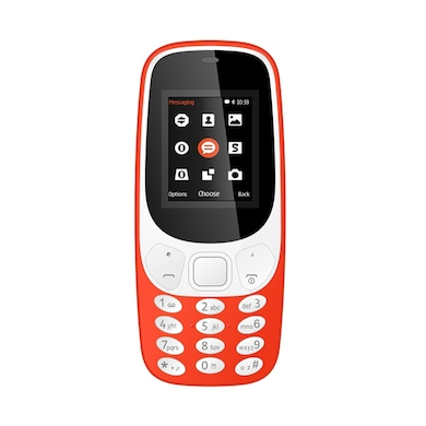 I Kall K3310 1.8 Inch Display, FM, Torch, Bluetooth, 1000 mAh Battery (Orange) Price in India