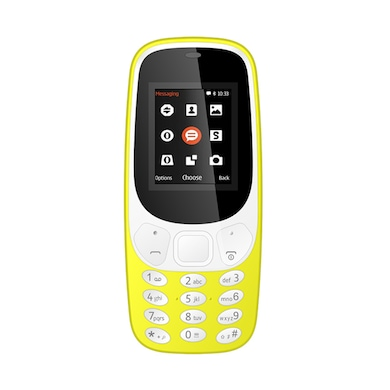 I Kall K3310 1.8 Inch Display, FM, Torch, Bluetooth, 1000 mAh Battery (Yellow) Price in India