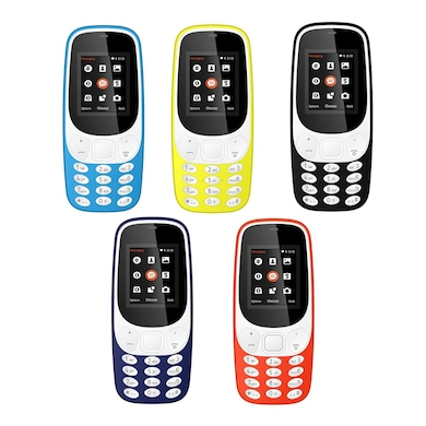 I Kall K3310 1.8 Inch Display, FM, Torch, Bluetooth, 1000 mAh Battery (Assorted) Price in India