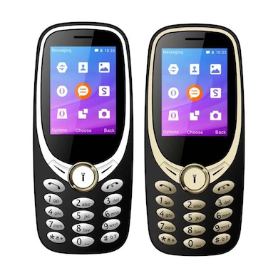 I Kall K3311 Combo Of Two Mobile (Gold and Silver) Price in India