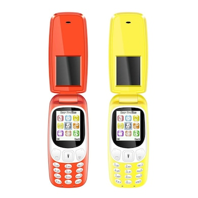 I Kall K3312 1.8 Inch Display, Camera, FM Radio, Bluetooth Set of 2 (Red and Yellow, 64MB) Price in India