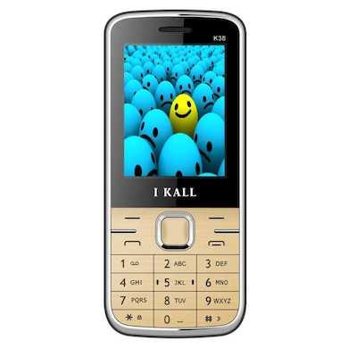 I Kall K38,Bluetooth,2.4 Inch Display,1800 mAh Battery (Gold, Below256MB RAM, 64MB) Price in India