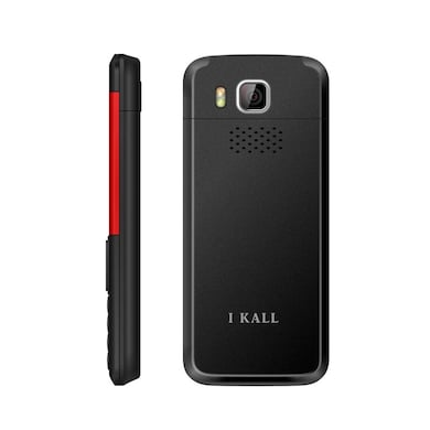 I Kall K5310 Dual Sim, 1.8 Inch Display,1000 mAh Battery,FM, Bluetooth (Black and Red, 64MB) Price in India
