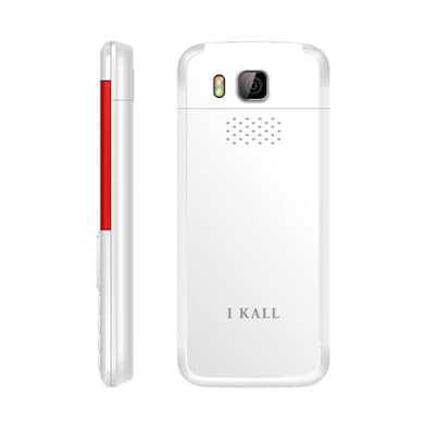 I Kall K5310 Dual Sim, 1.8 Inch Display,1000 mAh Battery,FM, Bluetooth (White and Red, 64MB) Price in India